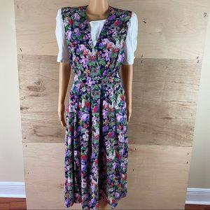 Vintage R.J. Stevens Carol Escritor Floral Dress